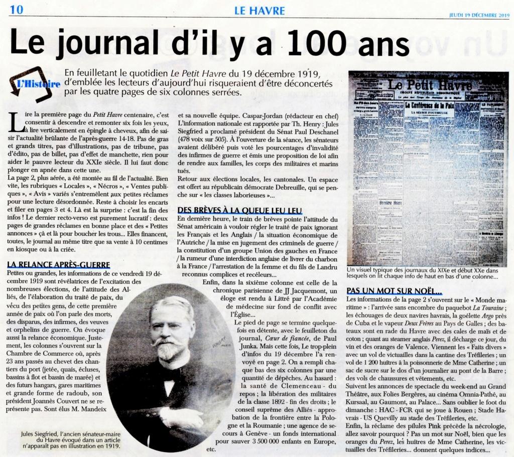 Le journal Le Petit Havre du 19 décembre 1919 2019-183
