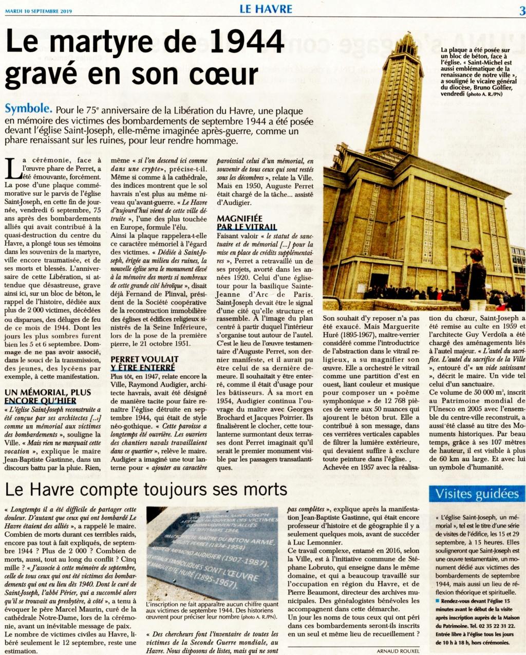 Le Havre - Le martyre de 1944 devant l'église Saint-Joseph 2019-199