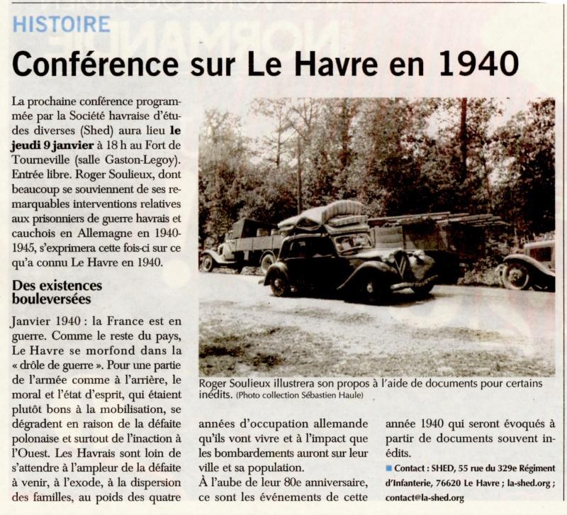 Conférence SHED sur le Havre en 1940 par Roger SOULIEUX 2020-010