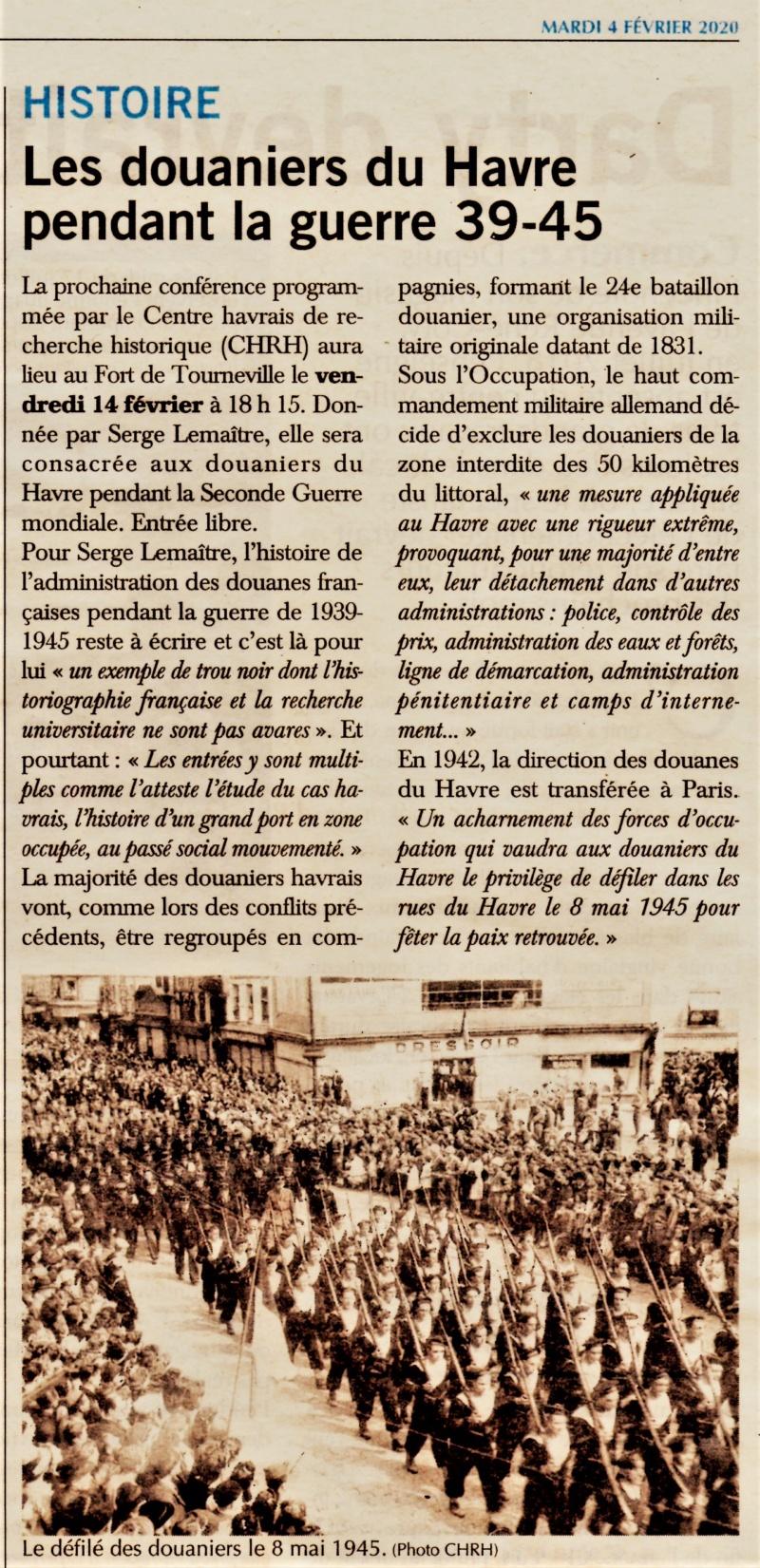 Les douaniers du Havre pendant la guerre 39/45 (conférence CHRH) 2020-017