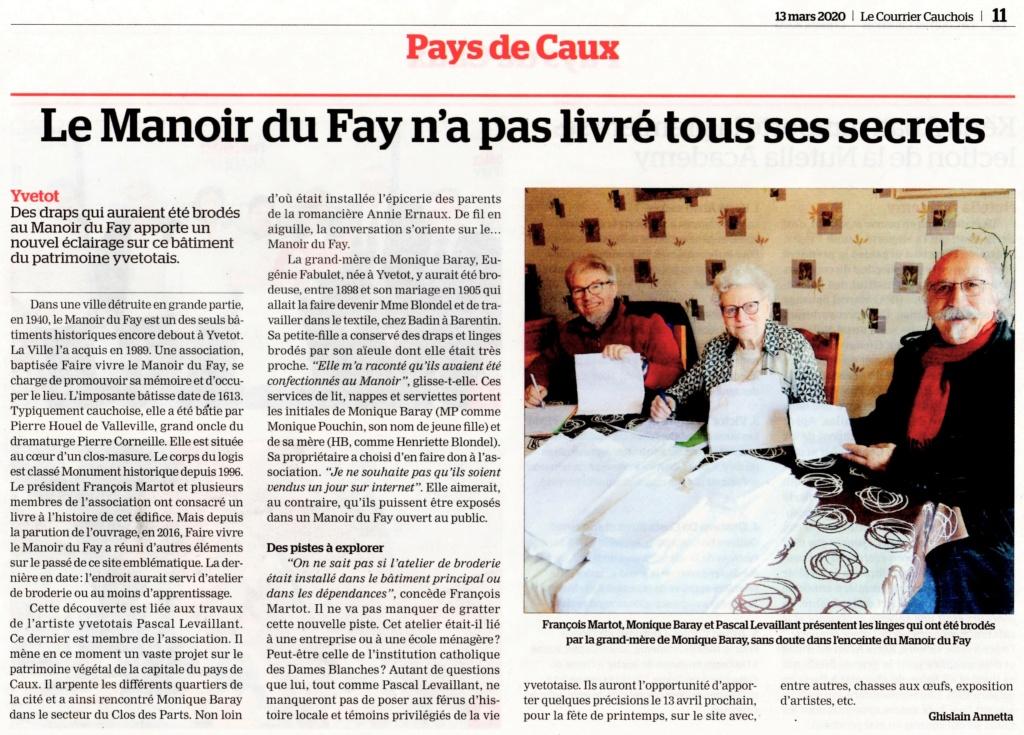 Yvetot - Le Manoir du Fay n'a pas livré tous ses secrets 2020-022