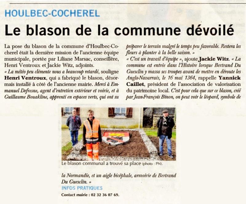 Houlbec-Cocherel - Le blason de la commune dévoilé 2020-036