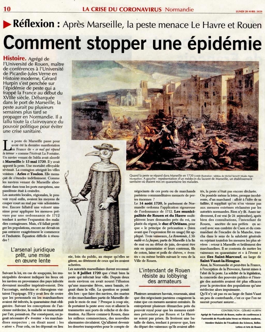 Havre - Après Marseille, la peste menace le Havre et Rouen 2020-040