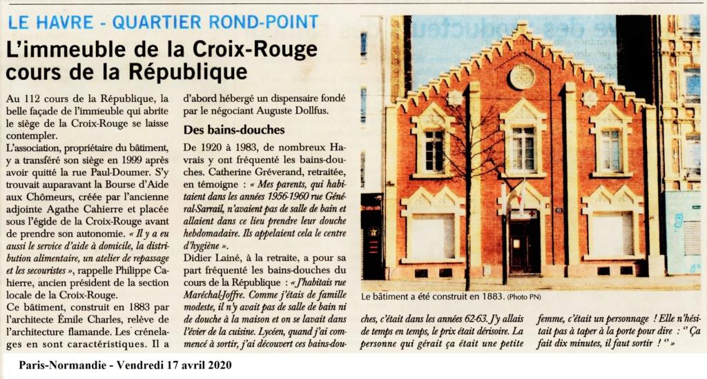 Havre - L'immeuble de la Croix-Rouge cours de la République au Havre (Rond-point) 2020-041