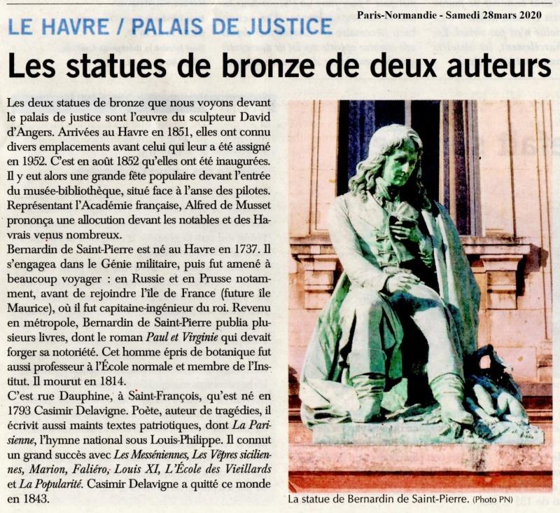 Statues de Casimir DELAVIGNE et Bernardin de SAINT-PIERRE 2020-059