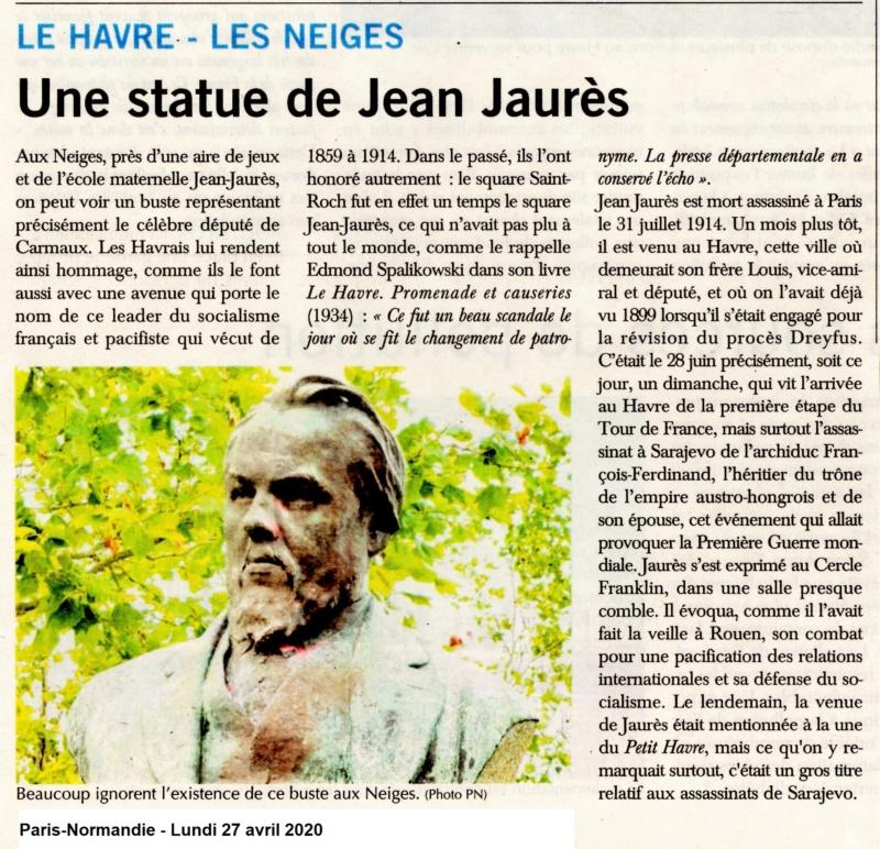 Statue de Jean JAURÈS aux Neiges 2020-060