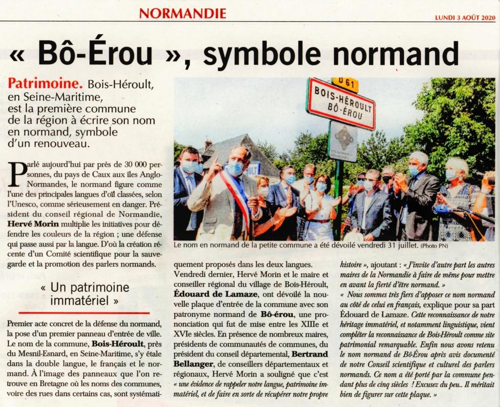 Bois-Héroult et son nom normand Bô-Érou 2020-100