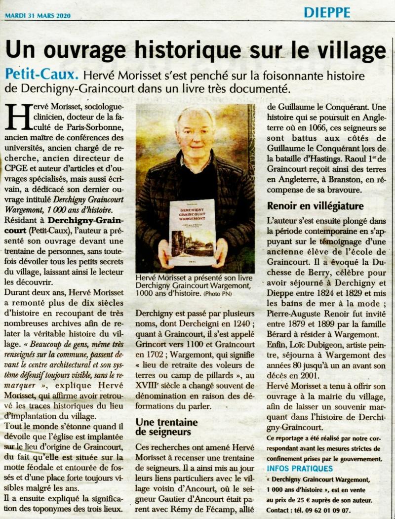 Derchigny Graincourt Wargemont, 1000 ans d'histoire par Hervé MORISSET [livre] 2020-184