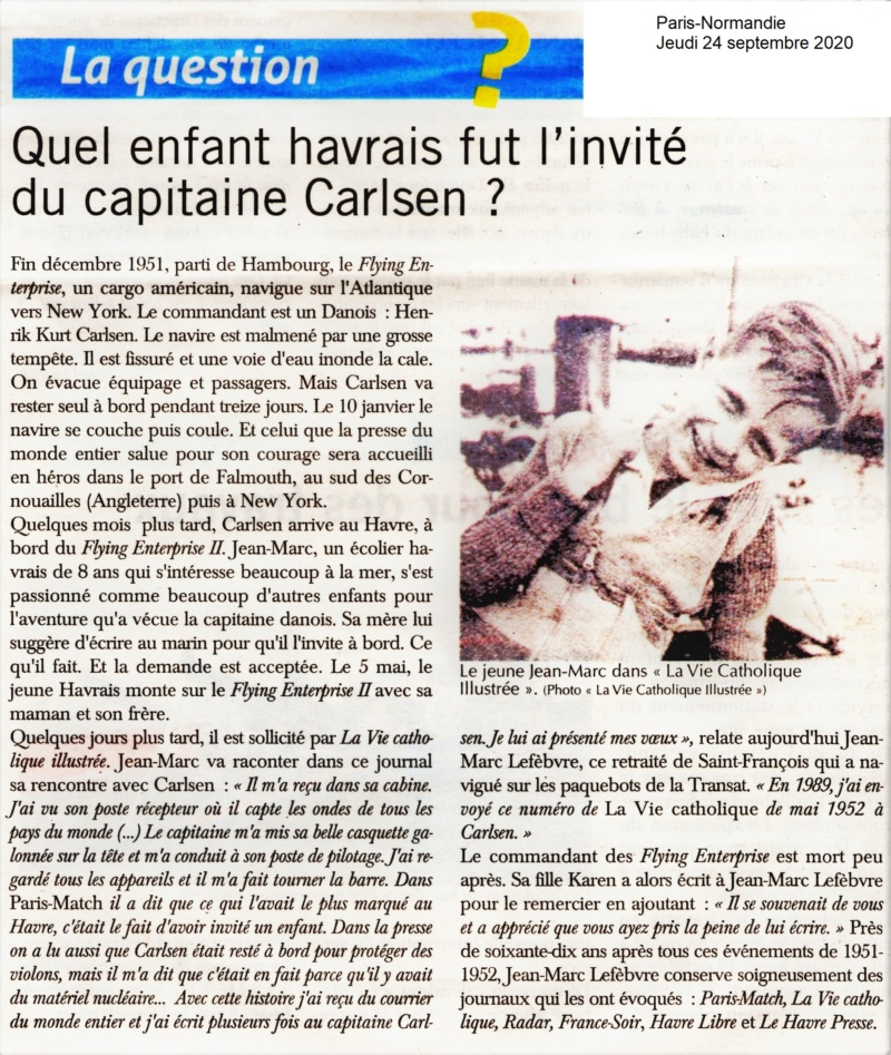 Le jeune LEFEBVRE invité du capitaine CARLSEN 2020-188