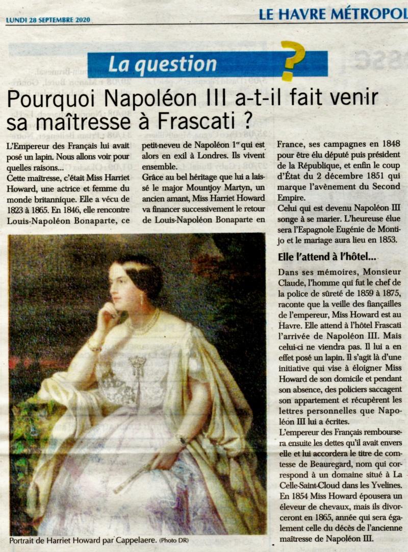 Pourquoi Napoléon III a-t-il fait venir sa maîtresse à Frascati ? 2020-191