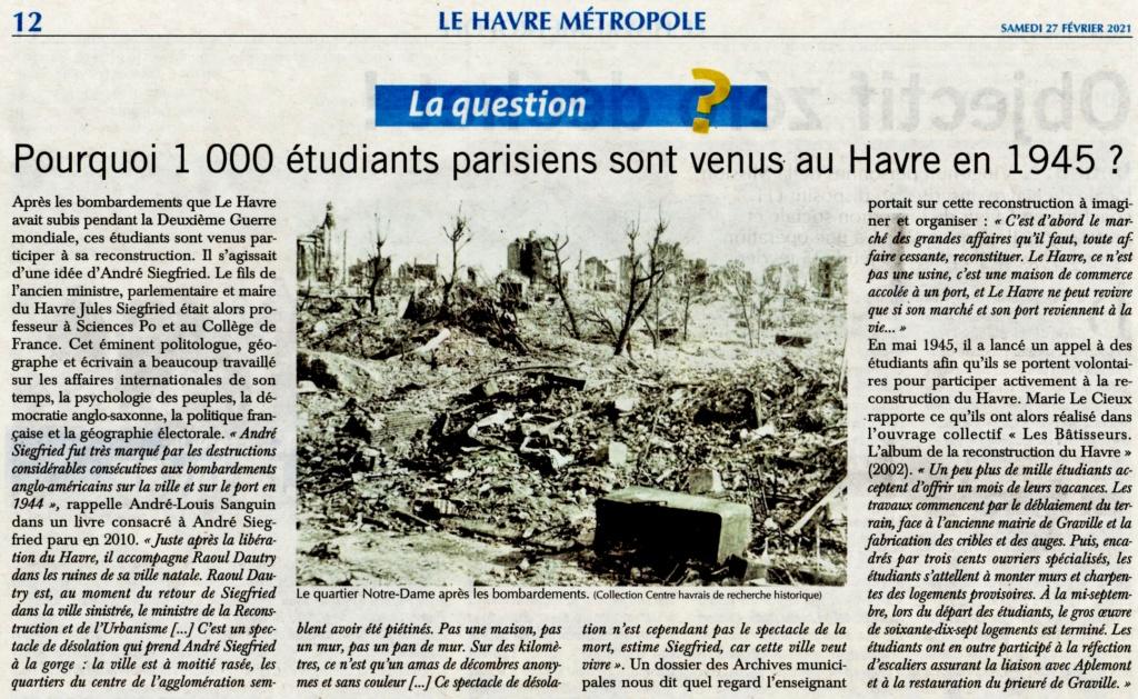 Havre - 1000 étudiants parisiens au Havre en 1945 2021-018