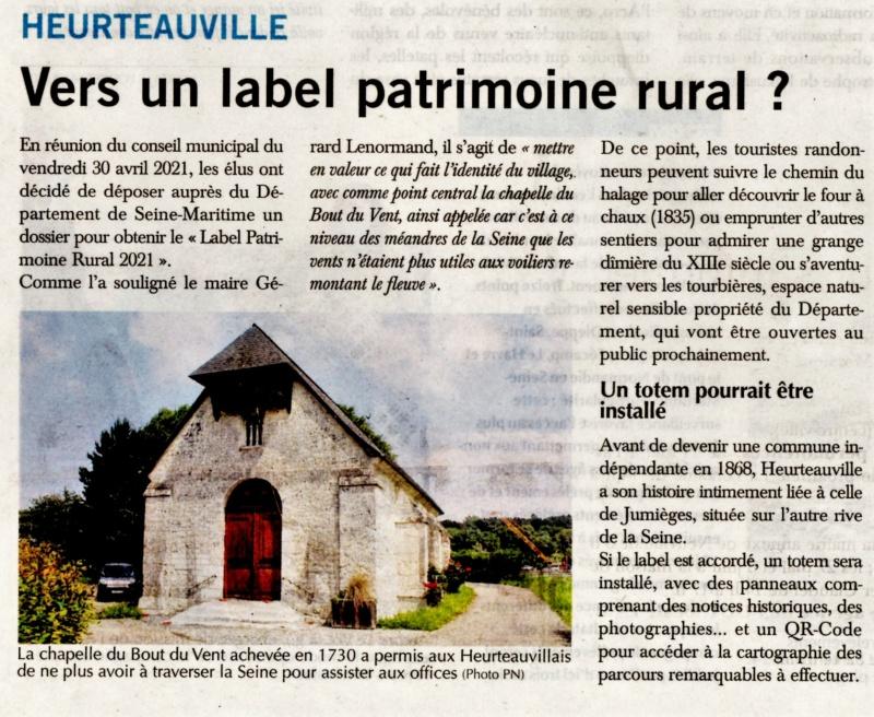 Heurteauville  - Vers un label patrimoine rural ? 2021-037