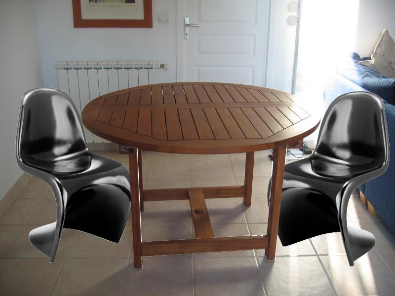 des panton autour de cette table qu 39 en pensez vous page 3. Black Bedroom Furniture Sets. Home Design Ideas