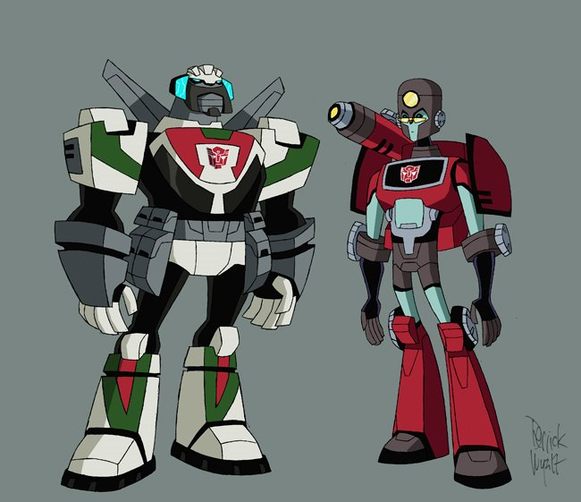 Images du design des personnages de Transformers Animated 12284410