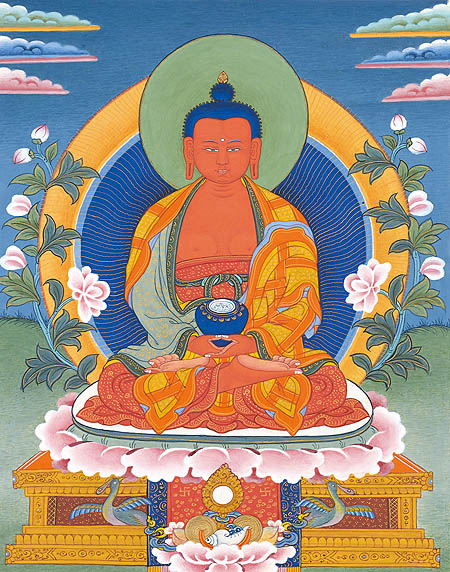 peintures de Bouddhas et Boddhisattvas Amitab10