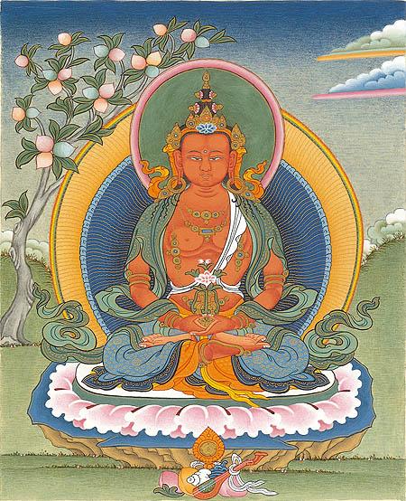 peintures de Bouddhas et Boddhisattvas Amitay10