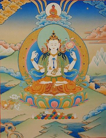 peintures de Bouddhas et Boddhisattvas Avalok10