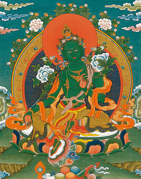 peintures de Bouddhas et Boddhisattvas Tara_v10