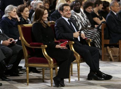 Sarkozy à la cérémonie pour la mort de Soeur Emmanuelle Articl10