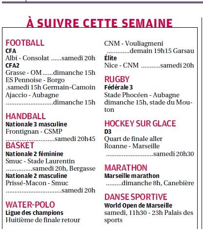 SPORTS DES CLUBS DE  MARSEILLE OU DE SA PERIPHERIE ........... - Page 2 2_bmp19