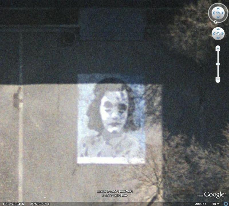 Peinture visage d'Anne Frank, Ludwigshafen am Rhein - Allemagne Anne_f10