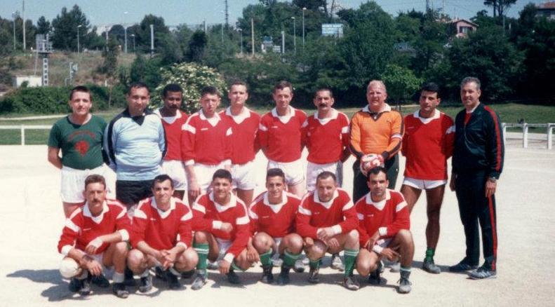 Equipe de foot du 1er r.e. en 1991 Aquipe10