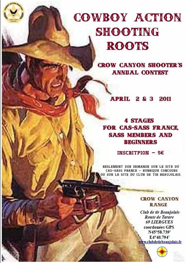 CONCOURS Cowboy Action Shooting au Club de Tir Beaujolais Affich11