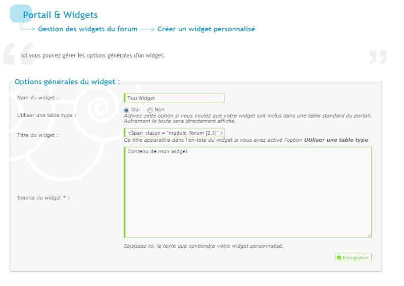 Widget s'affichant uniquement dans un forum désiré  Conten10