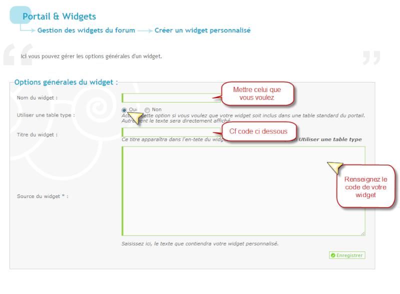 Widget s'affichant uniquement dans un forum désiré  Creati10