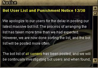 12.30 Bot User Lİst And Punishment! Notice! 317