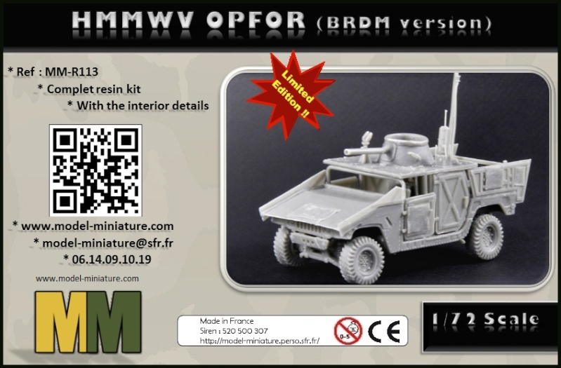 HMMWV Opfor, Puma Batash, Decal.. chez Model Miniature Box_op10