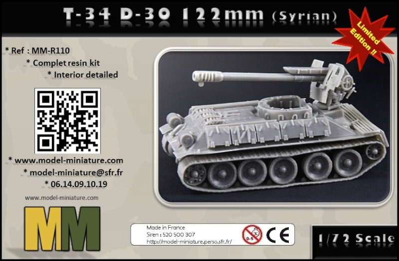 T-34 D-30 de 122mm, ZU-23-2, chenilles, chez Model Miniature Box_t310