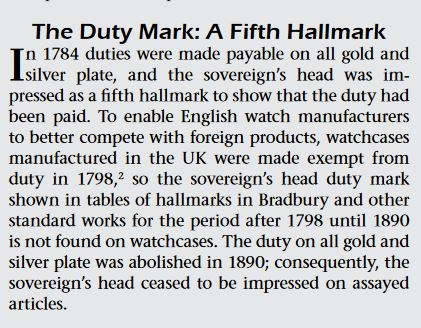 Montre à verge, en or 18ct Londres 1820-21 Duty_m10