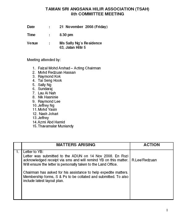 Minutes of meeting 8 - 21st November 2008 Mom8_110