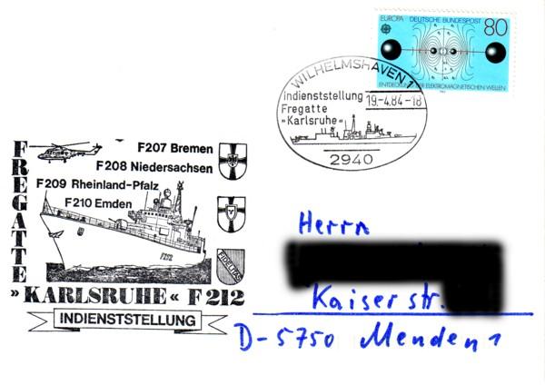 Briefe Bundesrepublik Deutschland Fregat10