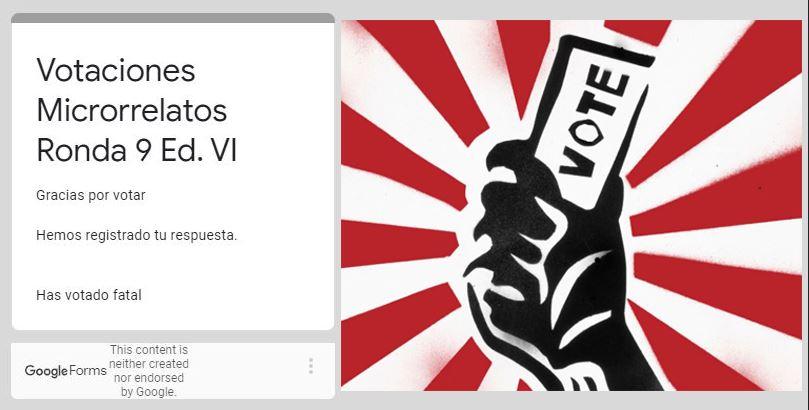 RONDA 9, SEXTA TEMPORADA DEL ELECTRIZANTE CONCURSO DE MICRORRELATOS AZKENA - GALA A LAS 22:15 h - Página 10 Vote10