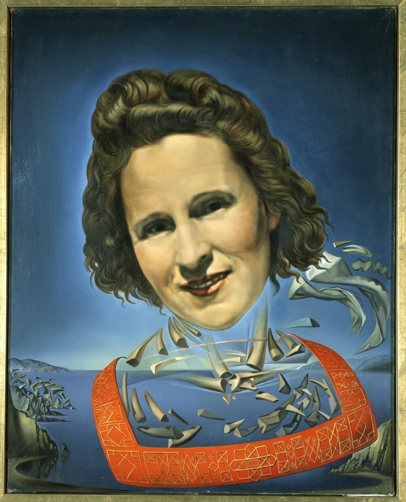 Retrato de Gala con síntomas rinocerónticos.-Dalí 068010