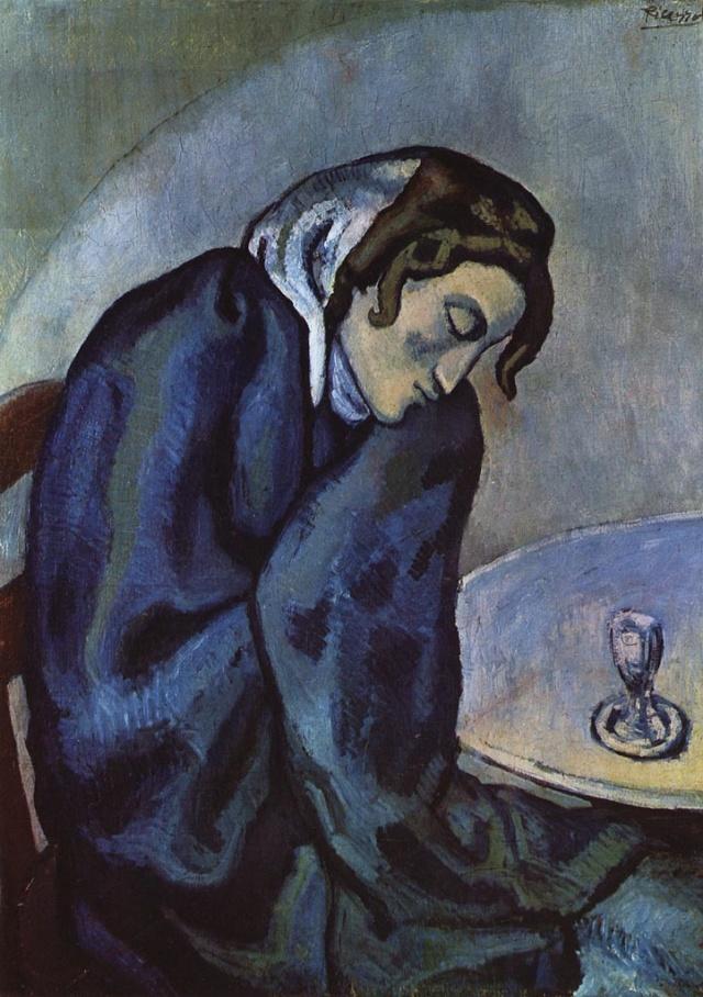 La bebedora adormecida-Picasso 1902_b10