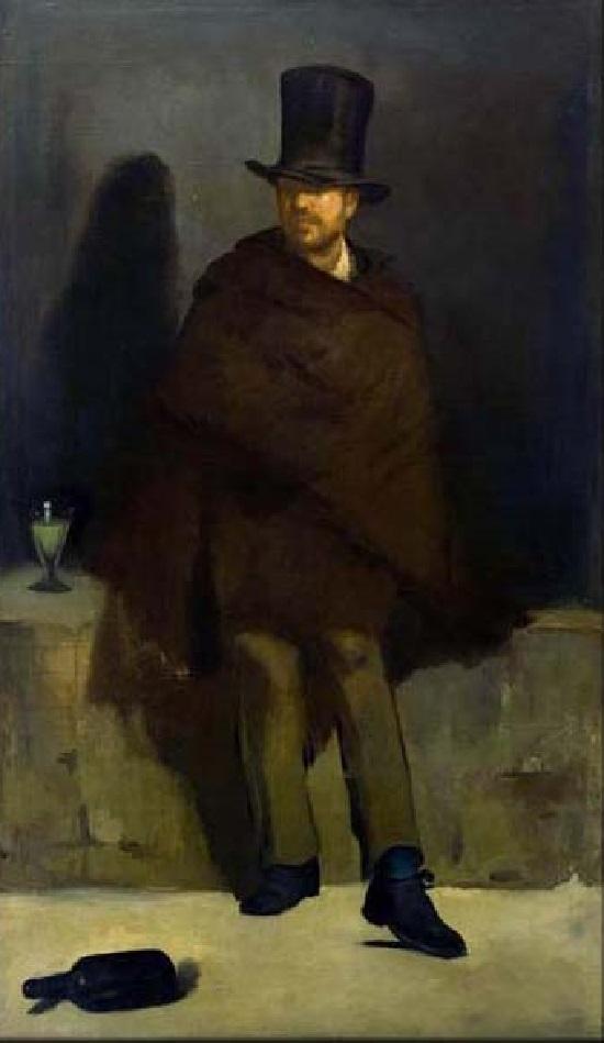 EL BEBEDOR DE AJENJO de Édouard Manet 30-man10
