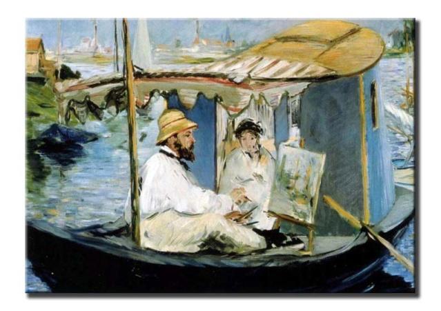 Claude Monet y su esposa en su estudio flotante, de Edouard Manet 39_man10