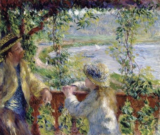 A la orilla del lago. Pierre Auguste Renoir 510