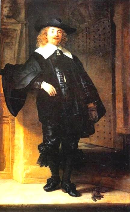 Retrato de Hombre de Pie- Rembrandt 66610