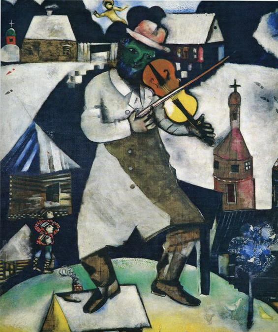 El gran violinista. Marc Chagall 69el_v10