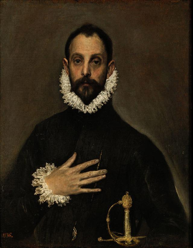 Retrato del Caballero de la Mano en el Pecho. EL GRECO 800px-11