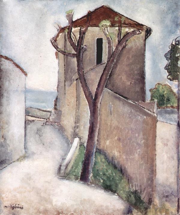 Árbol y Casas-- Modigliani Amedeo10