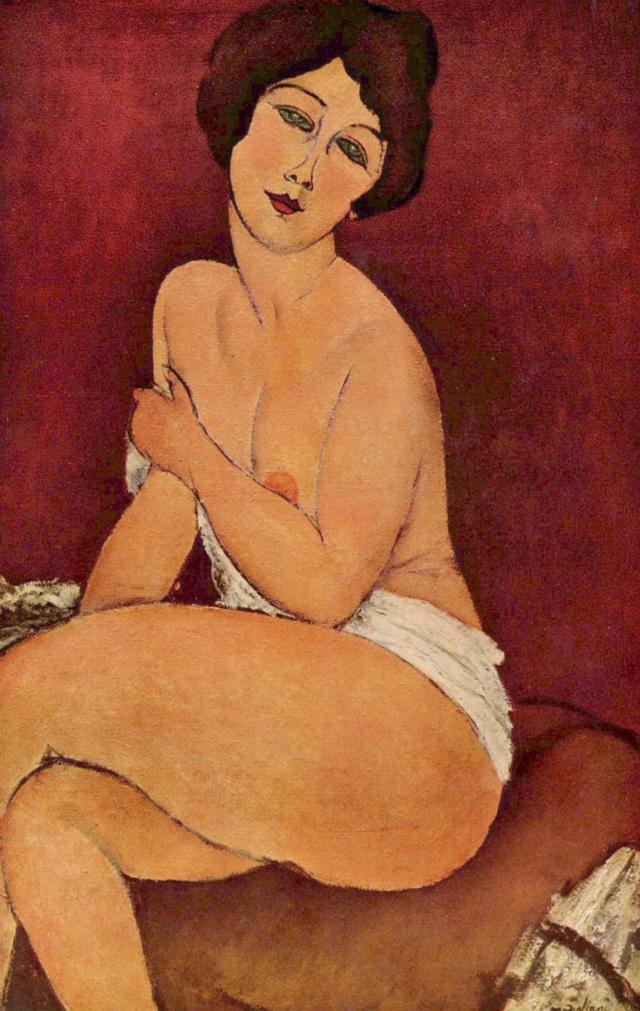 Desnudo sentado- Modigliani  Amedeo11