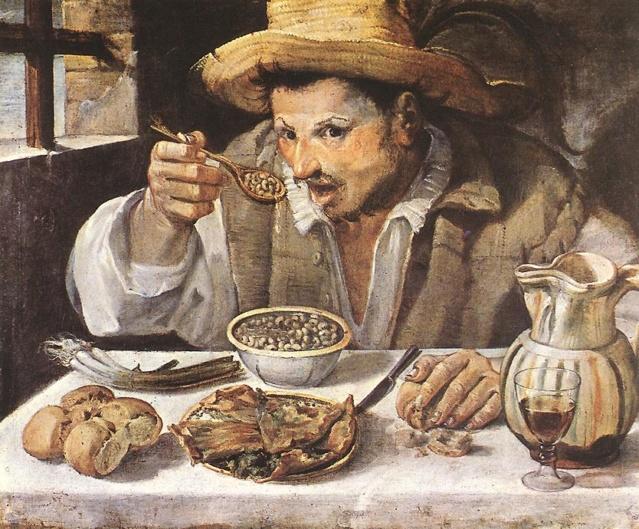 Hombre comiendo judías-Carracci Anniba10
