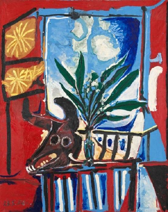 Bodegón con cabeza de Toro. Pablo Picasso Bodegz11