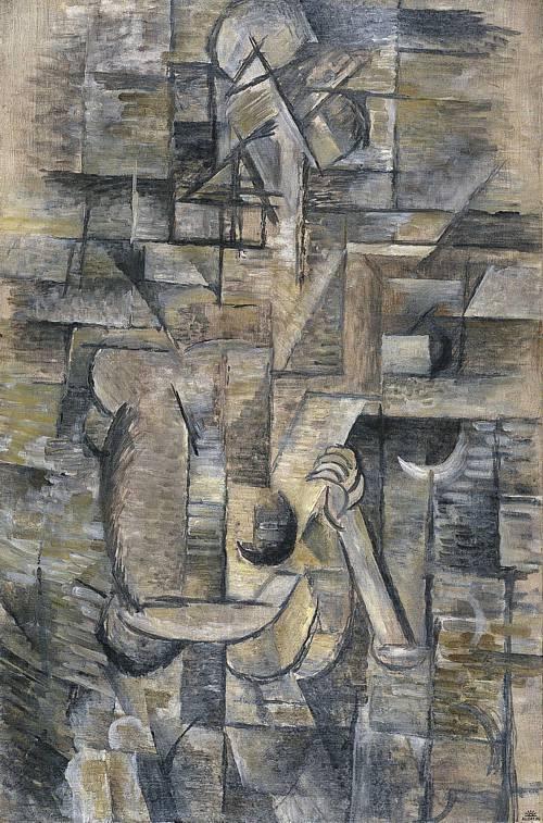 Mujer con mandolina-Braque Braque10