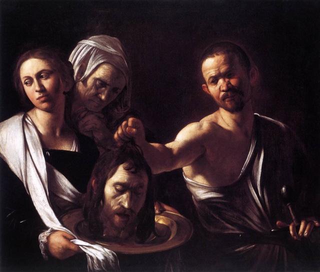Salomé con la cabeza de Juan Bautista-Caravaggio Carava10